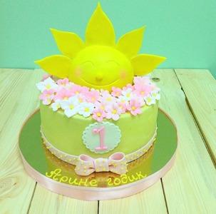 торт солнышко