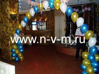 Гелиевая цепочка из воздушных шаров (1 м)