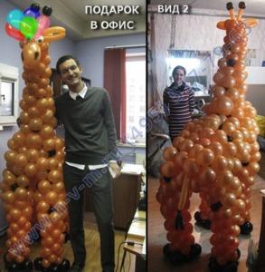 композиция из шаров жираф