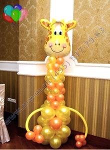 жираф из шаров