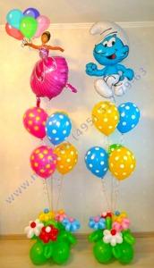цветочная композиция из шаров