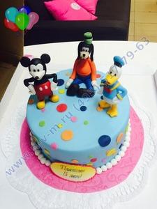 торт с персонажами дисней