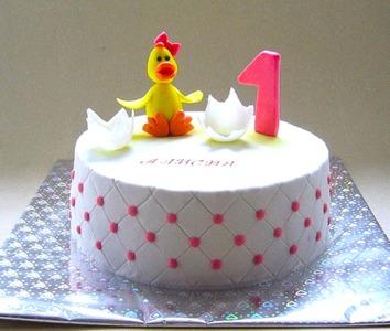 торт на годик с цыпленком