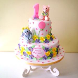 торт для девочки на день рождение