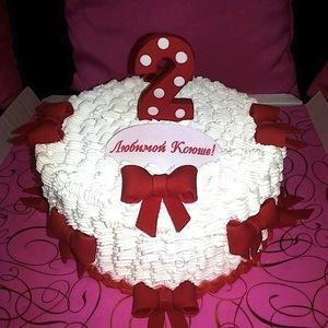 Детский торт с бантиками