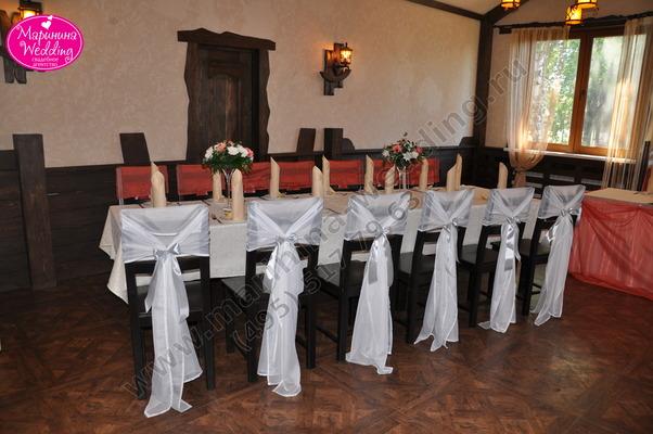 Коралловая свадьба в ресторане