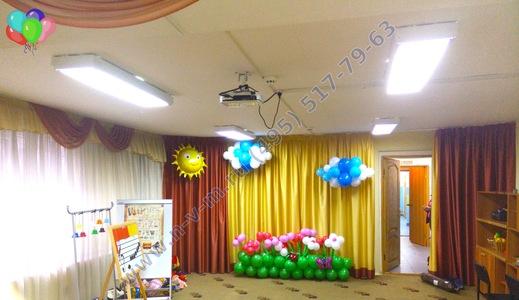 украшение шарами детский сад