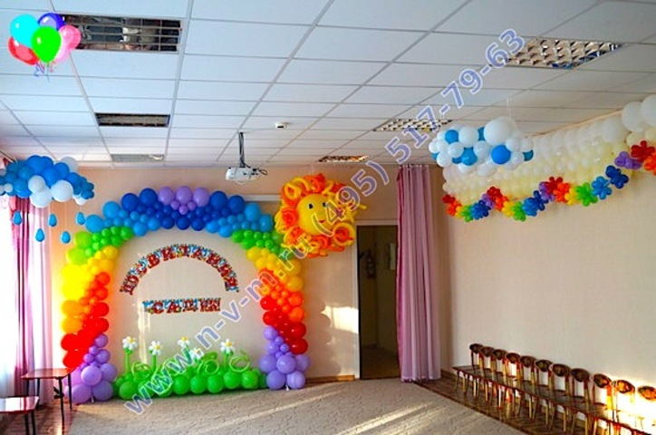 Украшение воздушными шарами своими руками фото 107