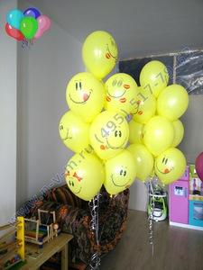 шары с рожицами в школу или детский сад