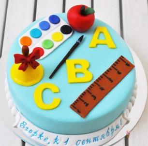 торт к первому сентября