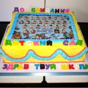 торт на выпускной в детском саду