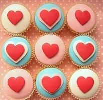 капкейки с сердцем