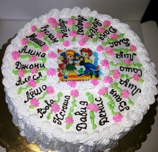 торт на выпускной с именами