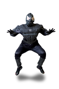 аниматор черный человек паук