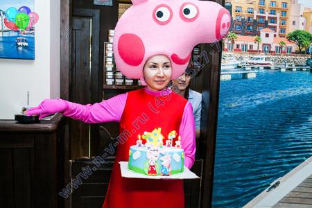 детский праздник со свинкой