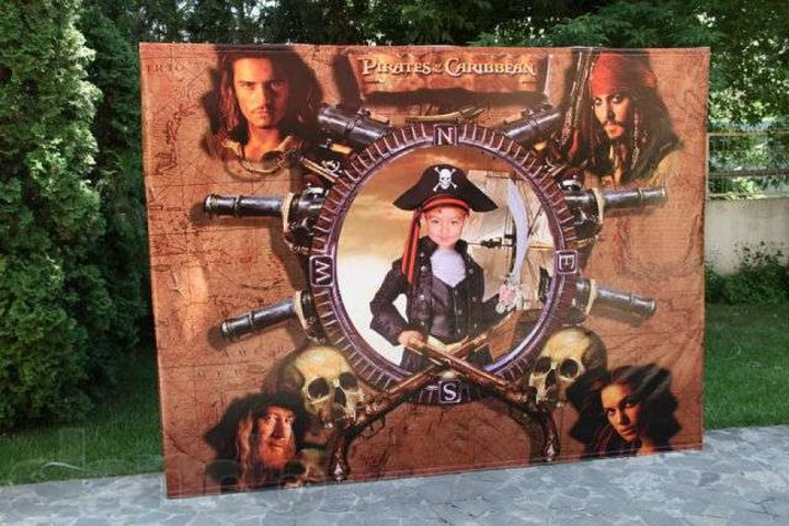 пиратский фото баннер на день рождения нужно будет