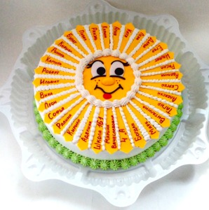 торт на выпускной солнышко