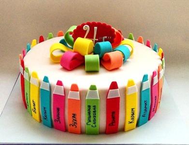 торт на выпускной в школу