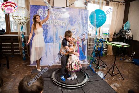 детское шоу мыльных пузырей
