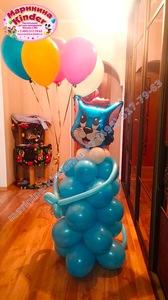 Фигура из шаров с котом